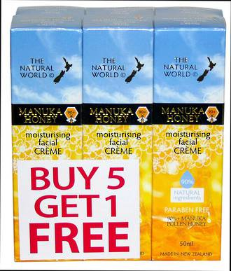 The Natural World Manuka Honey Moisturising Facial Creme 5 pack