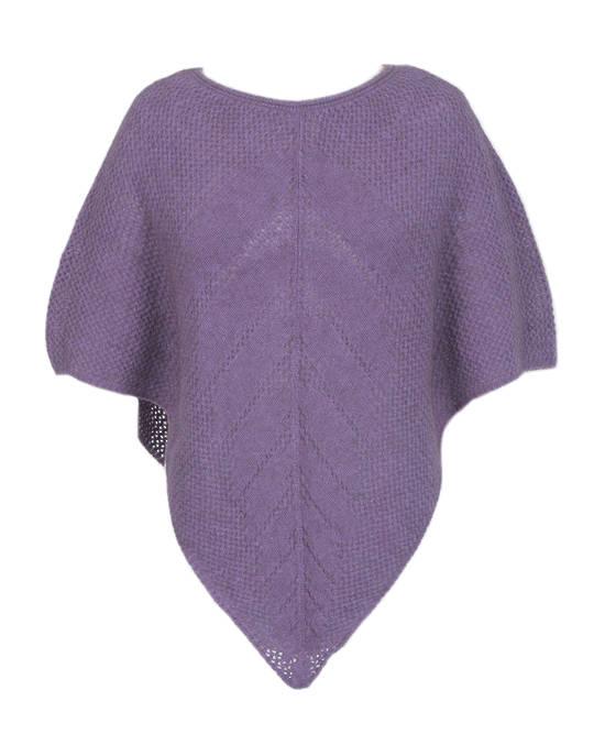 9980 Possum Lace Knit Poncho
