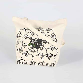 Carry Bag with Black sheep amongst White Sheep