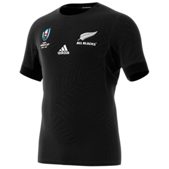 2019  RWC All Blacks Performance Jersey Short Sleeve