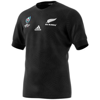 2019  RWC All Blacks Home Jersey Short Sleeve