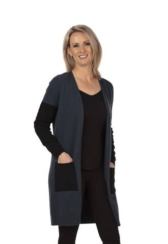 NB746 Textured Longline Cardigan