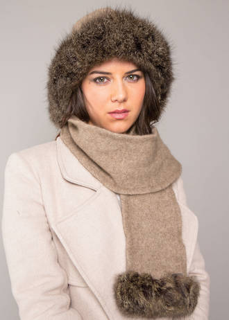 KO170 Koru Fur Trim Hat/Scarf