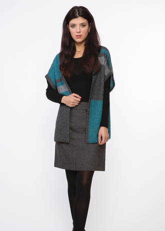 KO515 Colour Block Shrug
