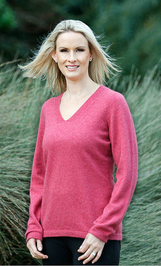 NB396 Womens Vee Neck Plain Sweater