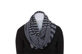 NX559 Striped Endless Scarf
