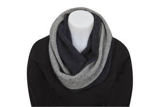NX705 Two Tone Endless Scarf