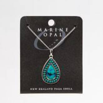 PJS131 - Marine Opal Turquoise Centre Teardrop Necklace