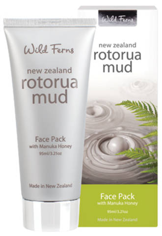 Wild Ferns Rotorua Mud Face Pack with Manuka Honey