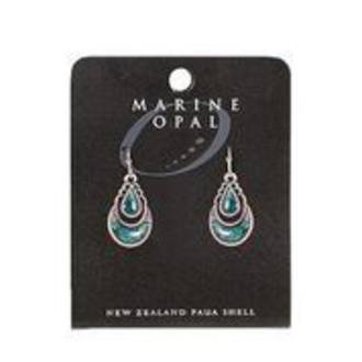 MOE111 - Marine Opal Drop Crystal Design Earrings