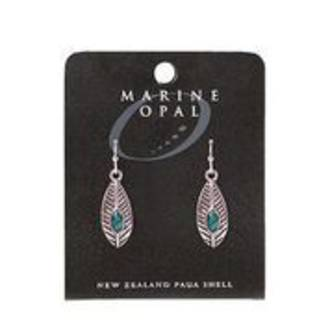 MOE116 - Marine Opal Drop Design Earrings