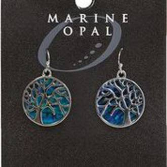 MOE124 Marine Opal Drop Earrings