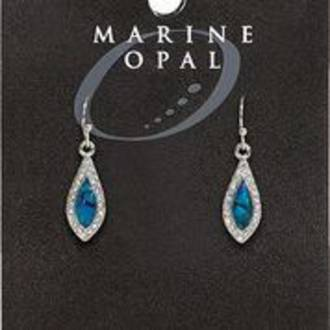 MOE127 - Marine Opal Crystal Drop Earrings