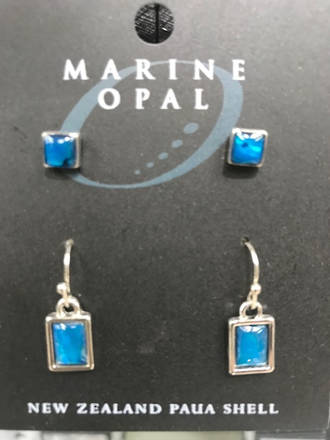 MOE94 Marine Opal Stud and Drop Earring Set