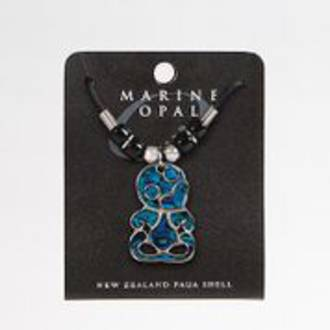 MOP111 Marine Opal Cord Necklace - Tiki