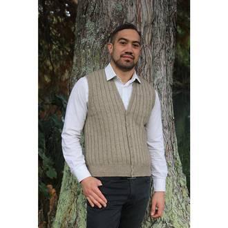 9829 Rib Button Vest