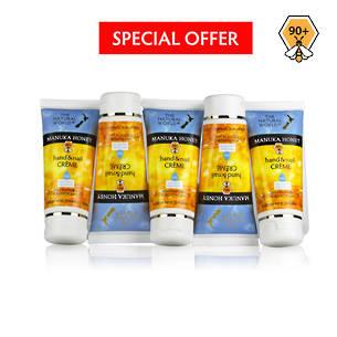 The Natural World Manuka Honey Hand & Nail Creme - 5 Pack