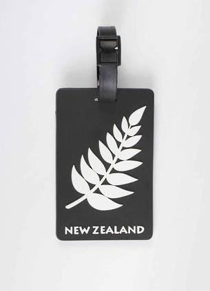 Luggage Tag of New Zealand - Silver Fern