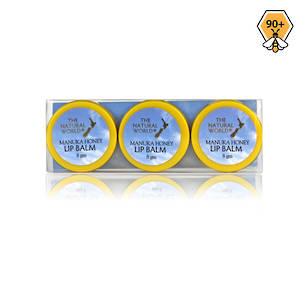The Natural World Manuka Honey Lip Balm  3 Pack