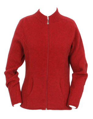 Womens Rib Detail Jacket with Pockets 9975