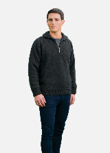 KO225 Zip Collar Jumper Charcoal