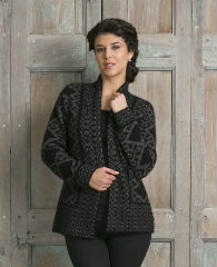 KO771 Oriental jacket in black grey