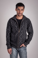 Plated Cable Zip Jacket by Koru