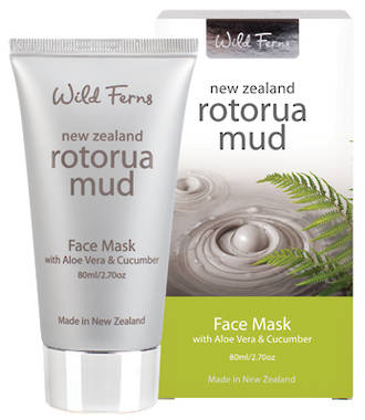 Wild Ferns Rotorua Mud Face Mask  with Aloe Vera & Cucumber