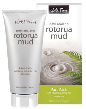 Wild Ferns Rotorua Mud Face Pack with Royal Jelly & Propolis