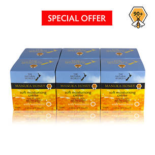 The Natural World Manuka Honey Soft Moisturising Creme - 6 pack