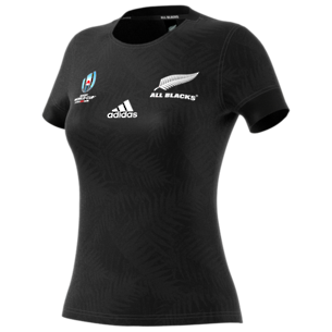 2019  RWC All Blacks Womens Home Jersey Short Sleeve