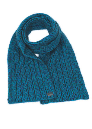 KO133 Koru Two Tone Cable Scarf