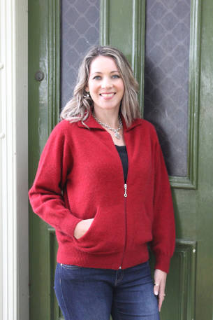 9976 Plain Zip Cardigan with Pocket