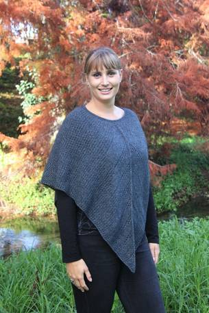 9980 Possum Lace Knit Poncho