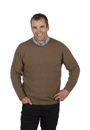 NB405 Crew Neck Rib Textured Sweater - Slim Fit