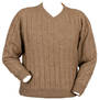 9960 V-Neck Rib Jumper